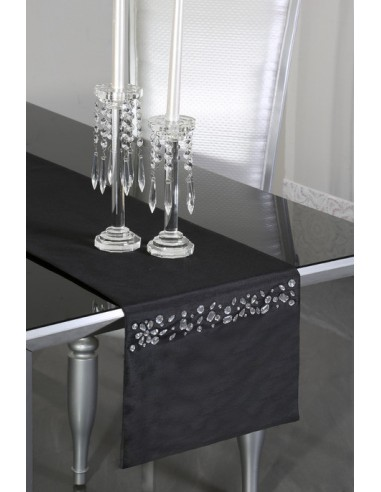 Eurofirany Decorative Tablecloth Black Blink 33X180