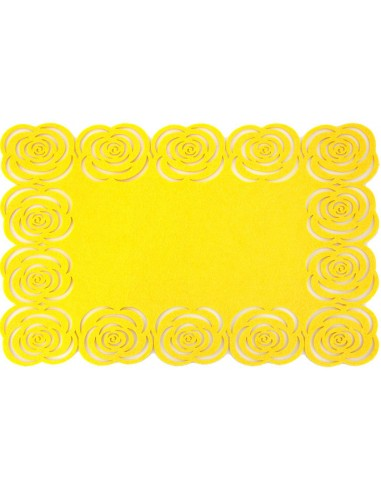 Eurofirany Decorative Mat Rosalia 35Rd Yellow