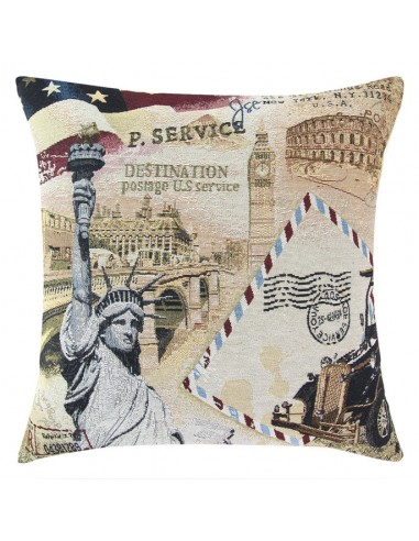 Eurofirany Pillow Case On The Pillow, City 17 45X45 White/Blue