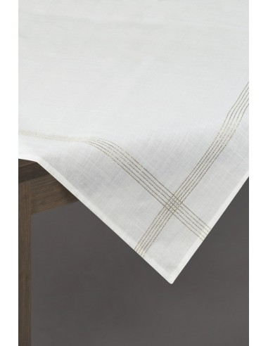 Eurofirany Tablecloth 85X85 White Gold 3/Gold