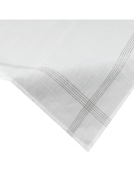 Eurofirany Tablecloth 85X85 Silver 3 White/Silver