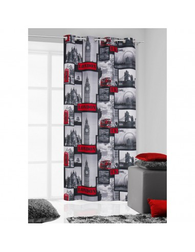 Eurofirany Ready Made Curtain London 140X250 Black/Red