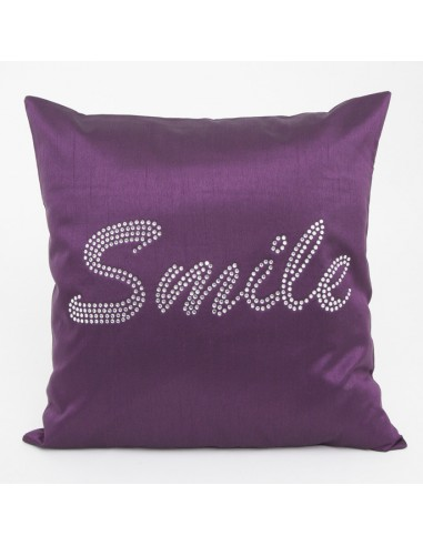 Eurofirany Pillow Case On The Pillow Smile 40X40 Purple
