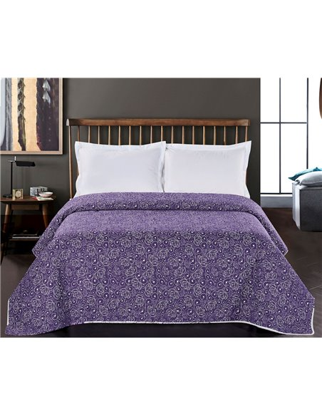 DecoKing Narzuta ALHAMBRA 170x270 PUDROWY/FIOLETOWY