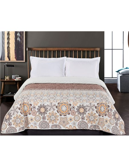 DeckoKing Bed Cover ALHAMBRA 170x270 BROWN