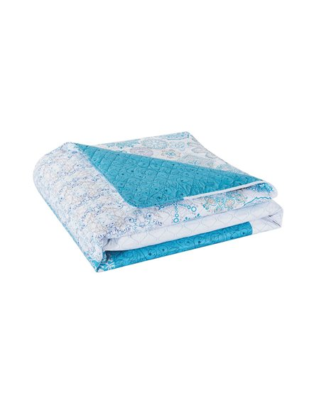 DeckoKing Bed Cover 170x270 ALHAMBRA TURQUOISE/BLUE