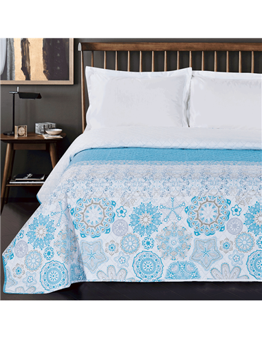 DeckoKing Bed Cover 260X280 ALHAMBRA TURQUOISE/BLUE