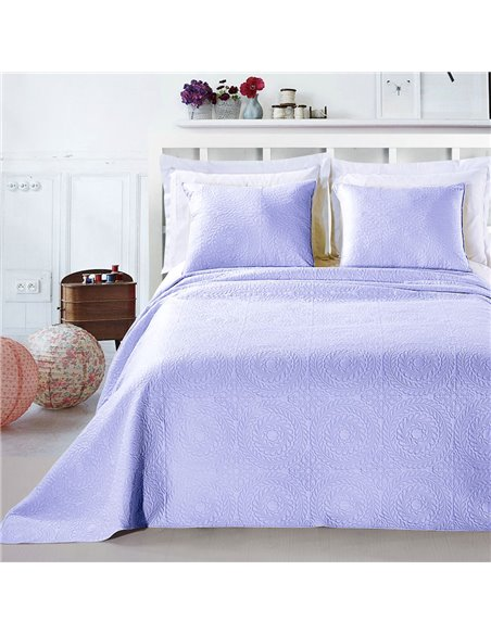 DeckoKing Bed Cover ELODIE 170x210+1*50x60 BRIGHT BLUE