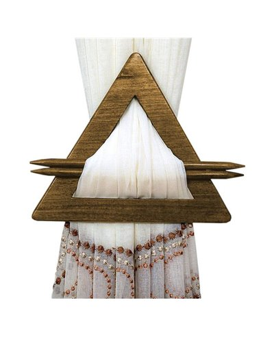 Eurofirany Upinacz Decorative Triangle Brown 65530