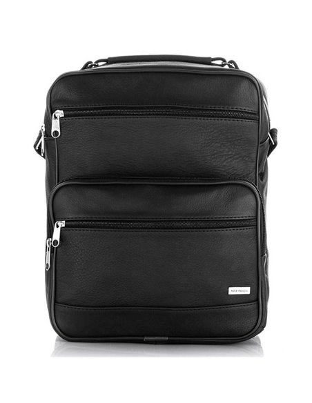 Men's messenger bag paolo peruzzi b-05 black