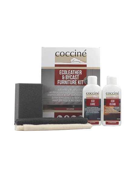 Ecoleather & bycast kit coccine 5in1 eco-leather care kit