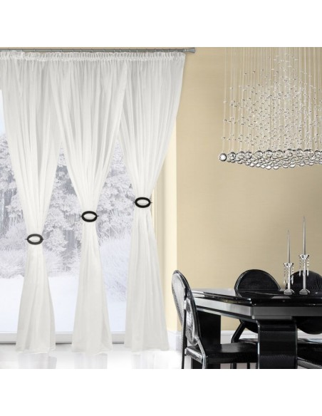 Eurofirany Ready Made Curtain 1070 White