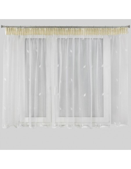 Eurofirany Ready Made Curtain Eleonora2 400X145 White